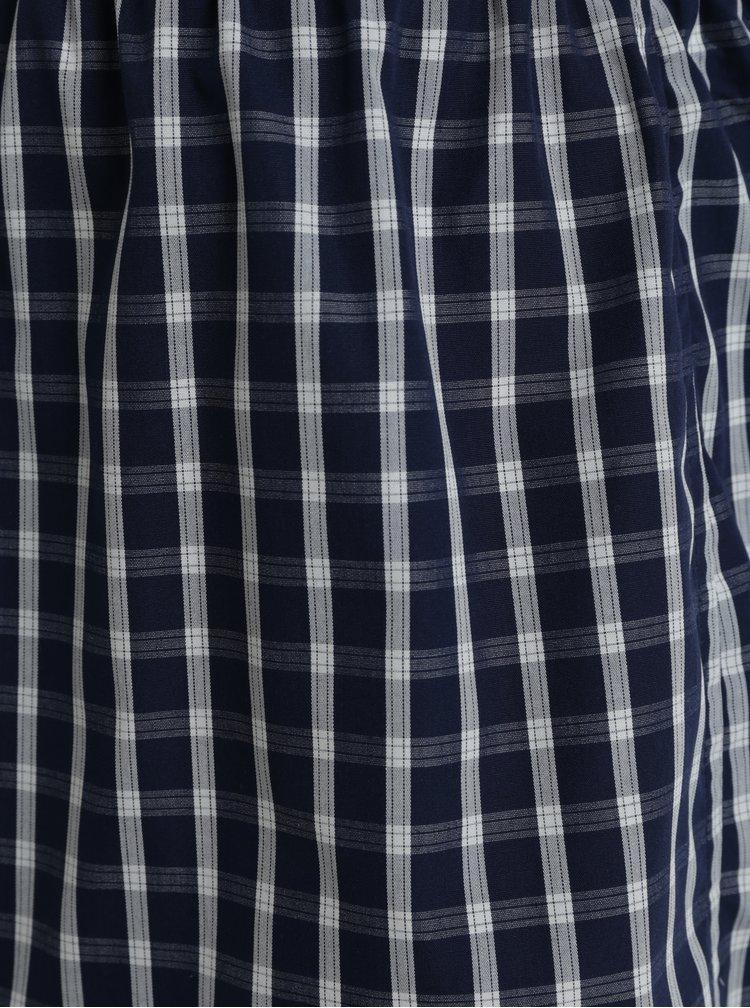Krémovo-modré pánské kostkované trenýrky ZOOT