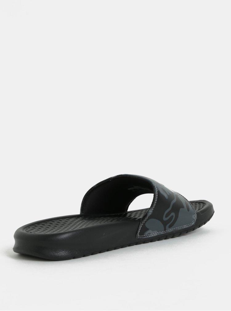 Papuci barbatesti negri Nike Benassi JDI Print