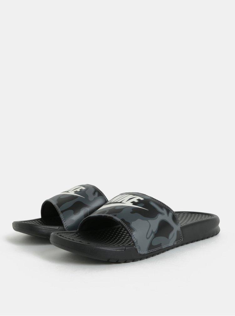 Černé pánské pantofle Nike Benassi JDI Print