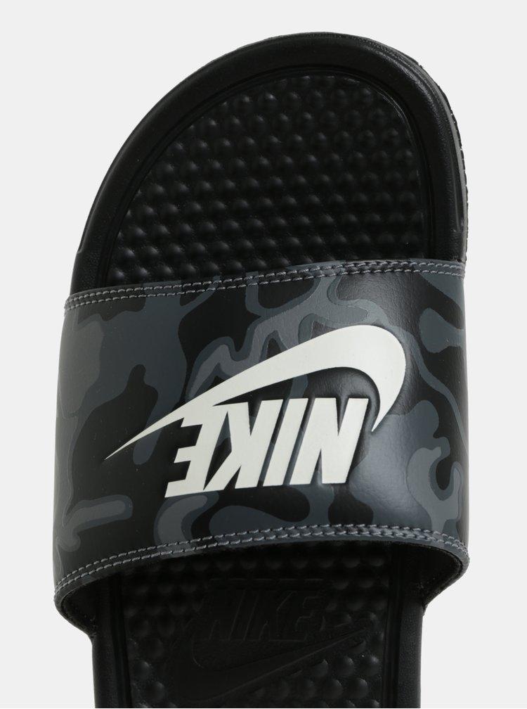 Čierne pánske šľapky Nike Benassi JDI Print