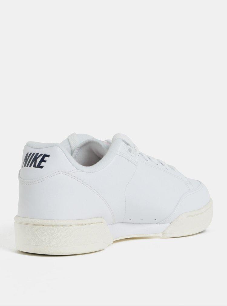 Bílé pánské kožené tenisky Nike Grandstand II