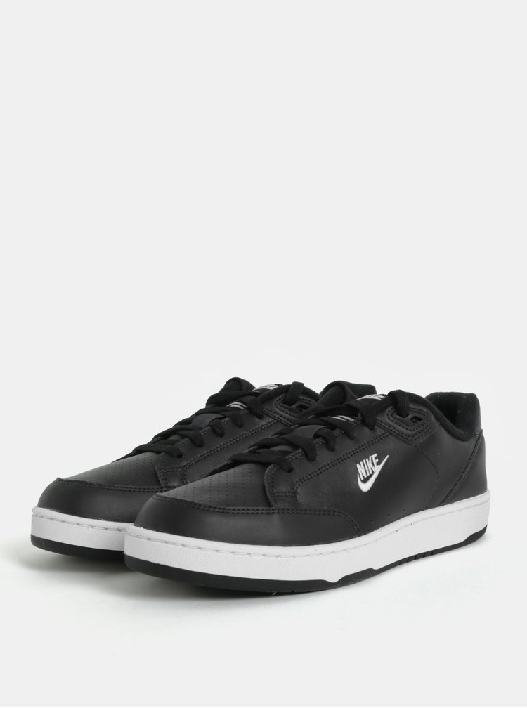 Černé pánské kožené tenisky Nike Grandstand II