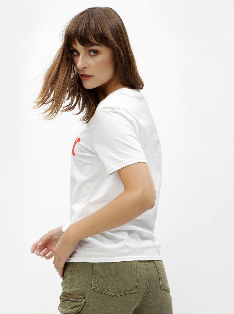 Bílé tričko s potiskem MISSGUIDED