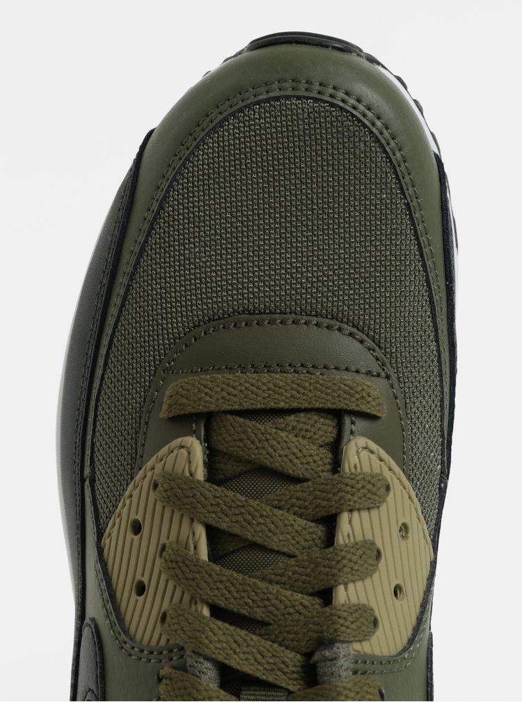 Khaki pánské kožené tenisky Nike Air Max '90 Essential