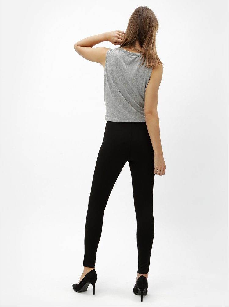 Černé zkrácené kalhoty MISSGUIDED