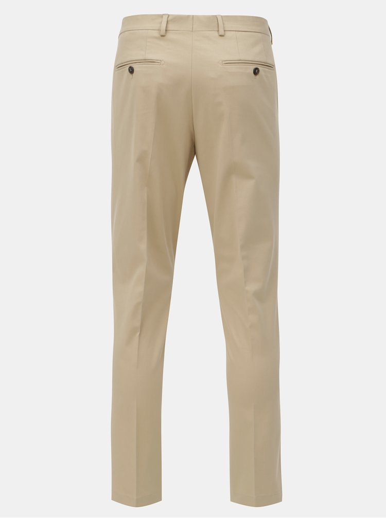 Béžové chino kalhoty Selected Homme