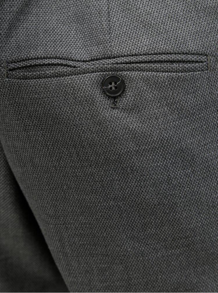 Šedé oblekové kalhoty Selected Homme