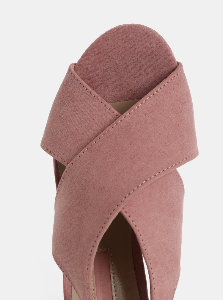 Růžové sandálky na podpatku Dorothy Perkins