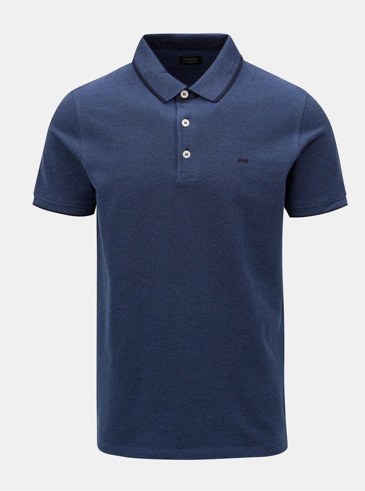 Tmavě modré polo tričko Jack & Jones Paulos