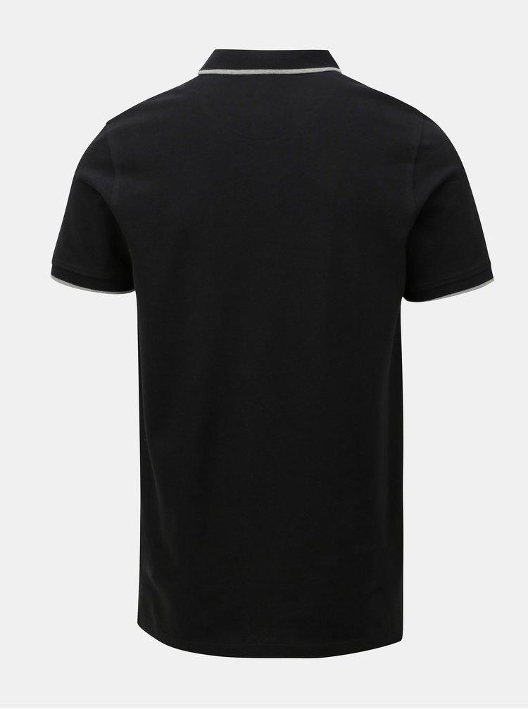 Černé polo tričko Jack & Jones Paulos