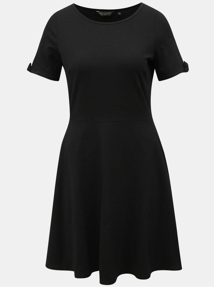 Černé šaty s mašlí Dorothy Perkins