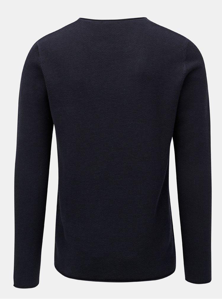 Tmavě modrý svetr s kulatým výstřihem Selected Homme Rocky