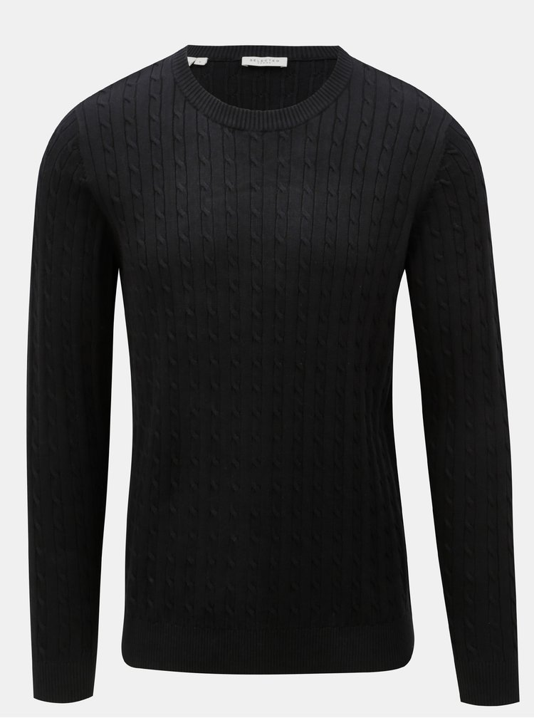 Pulover negru Selected Homme Clayton