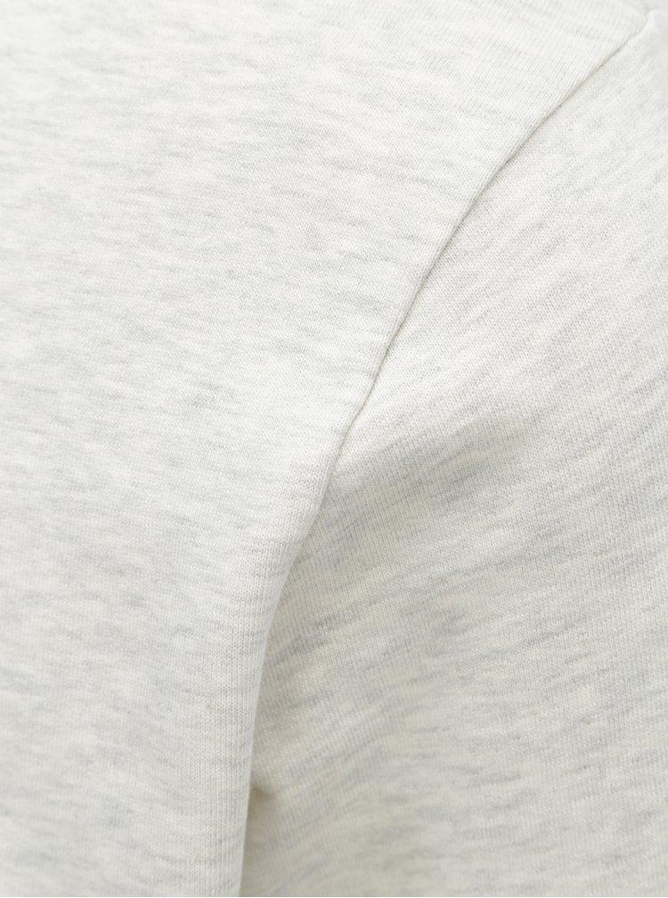 Světle šedá žíhaná lehká mikina s dlouhým rukávem Jack & Jones Holmen