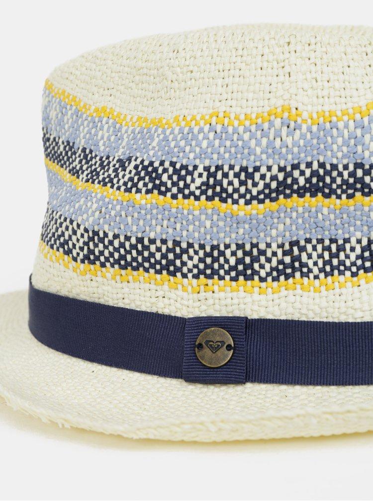 Krémový dámsky vzorovaný klobúk Roxy Sentimiento