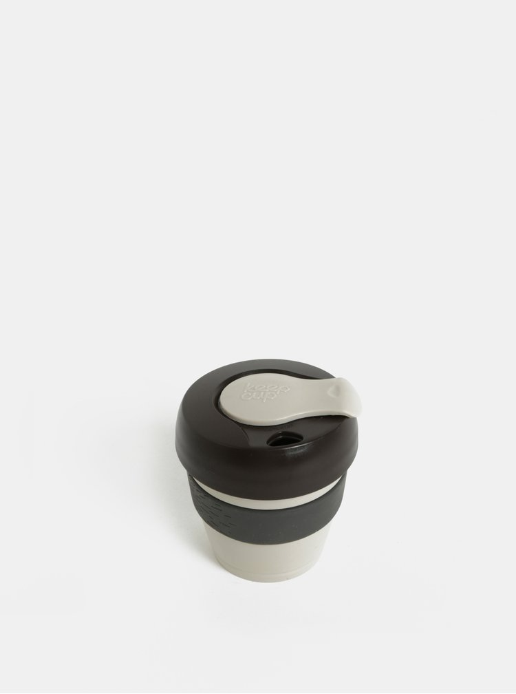 Hnědo-šedý cestovní hrnek KeepCup Original Extra Small