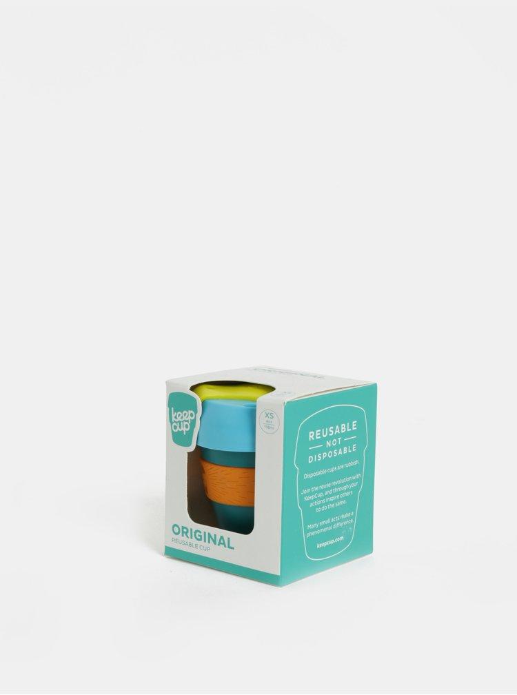 Zeleno-oranžový cestovní hrnek KeepCup Original Extra Small