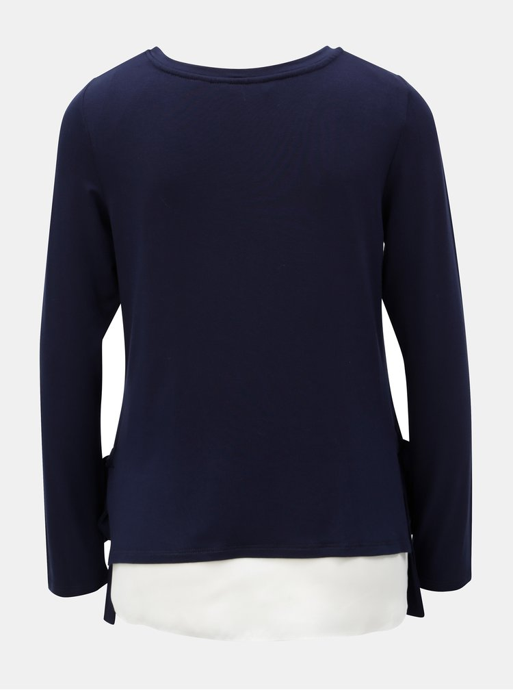 Tmavomodré tričko s dlhým rukávom Dorothy Perkins