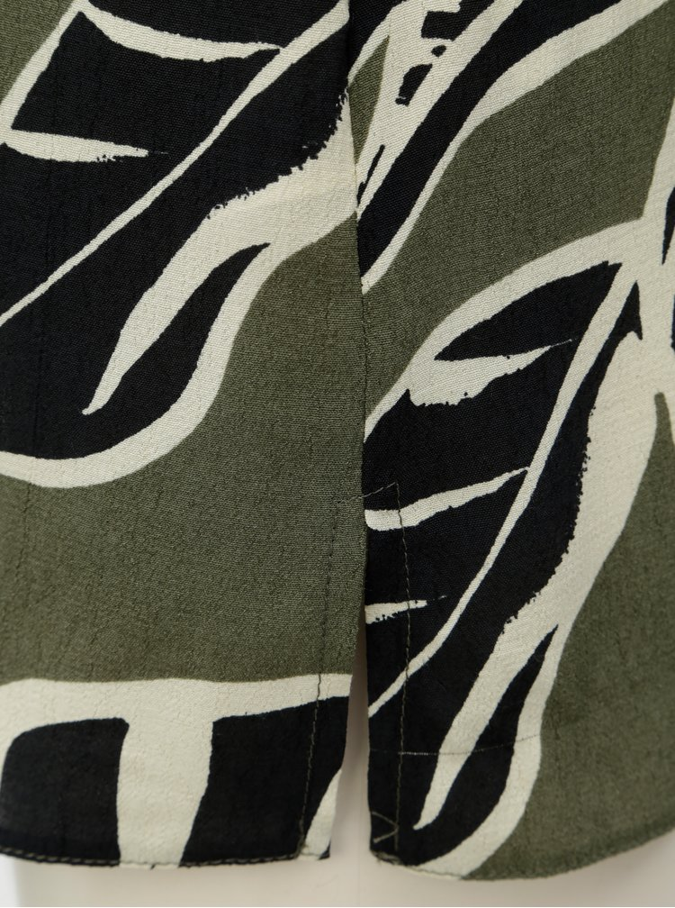 Khaki vzorovaná halenka bez rukávů Dorothy Perkins