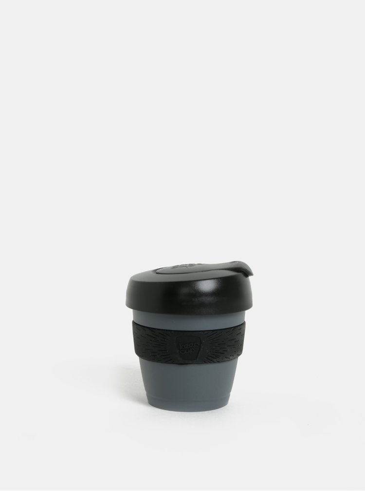 Černo-šedý cestovní hrnek KeepCup Original Extra Small