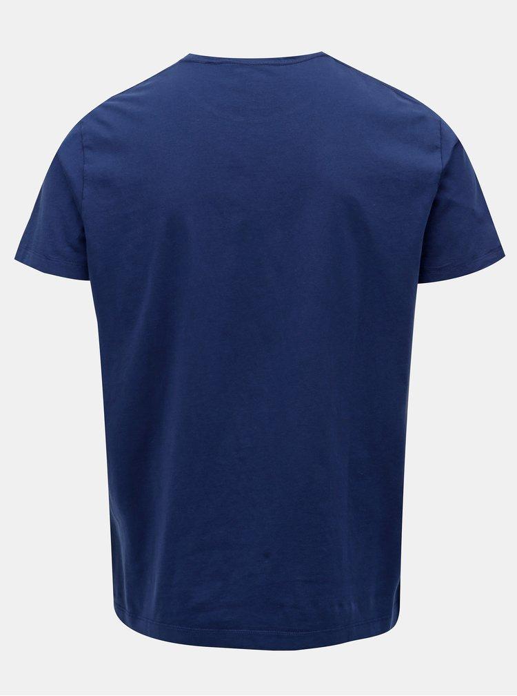 Tricou albastru classic fit Hackett London