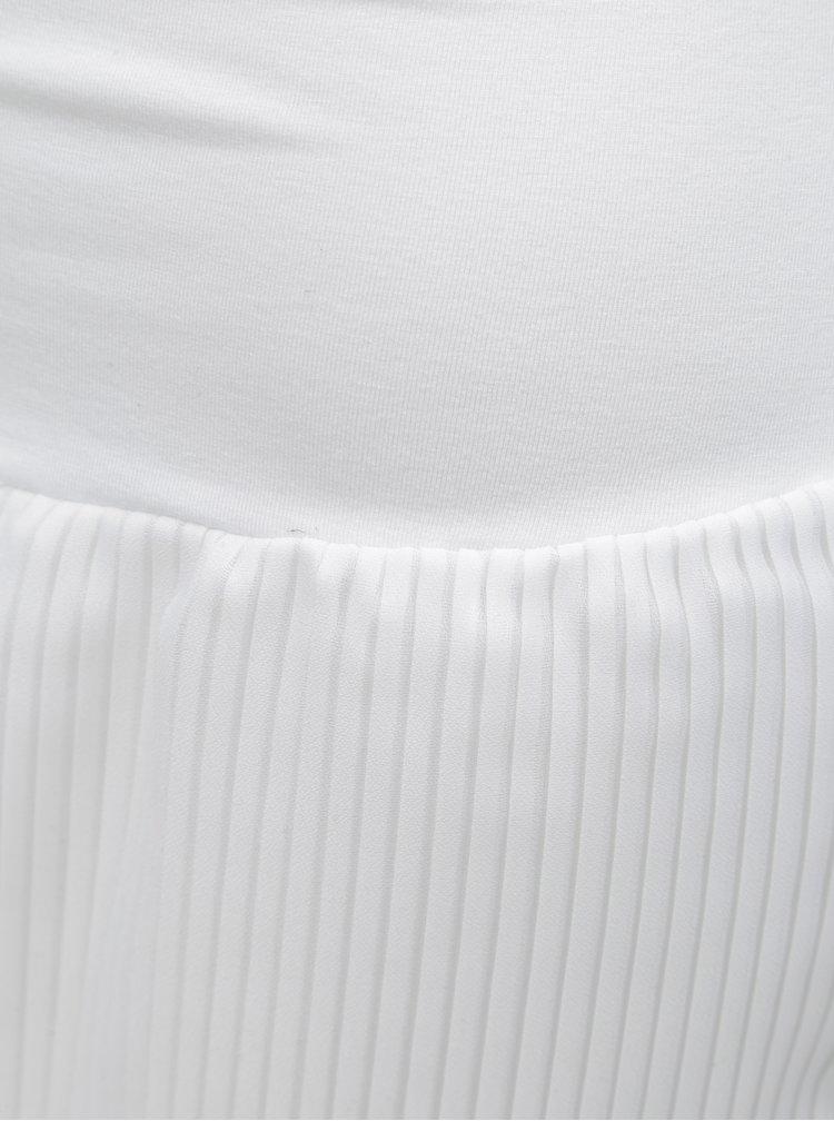 Bílá plisovaná sukně s gumou v pase Mayda