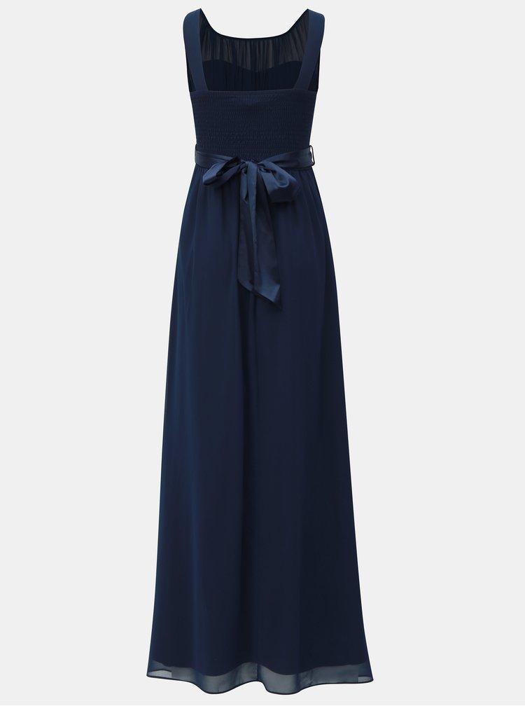Rochie maxi albastru inchis cu panglica in talie Dorothy Perkins