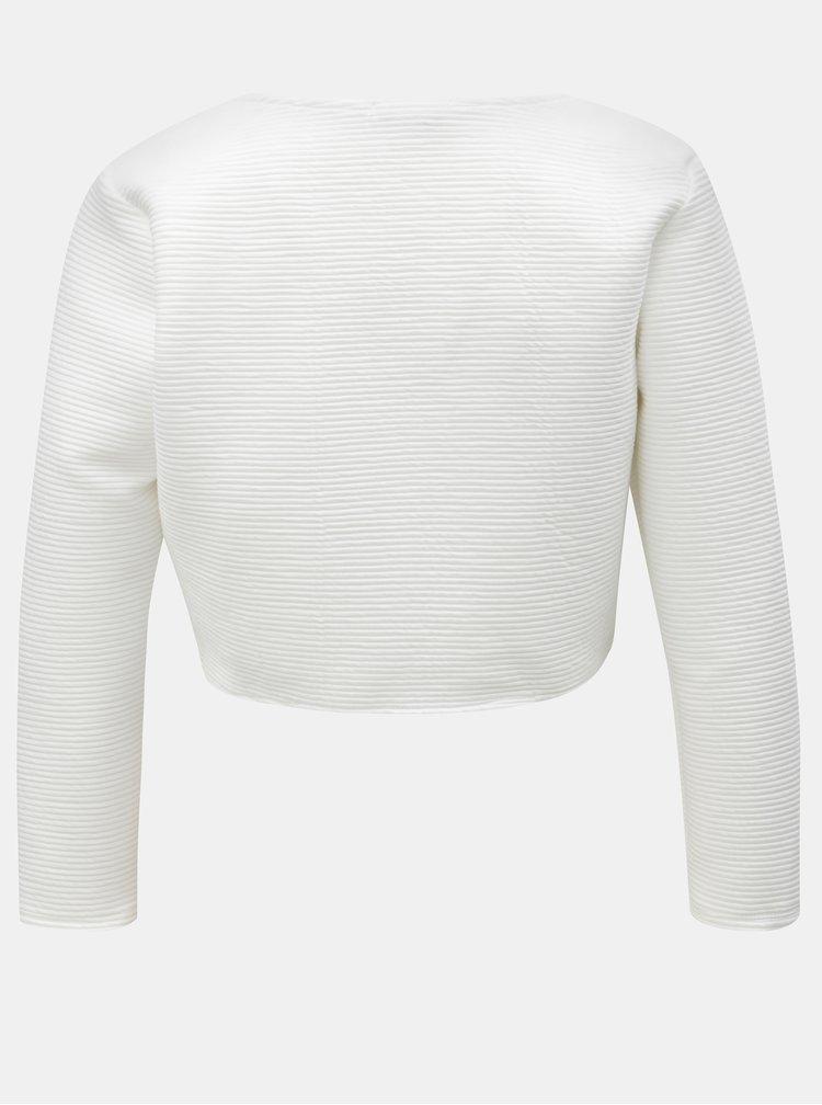 Bílé žebrované bolerko Haily´s Luzie