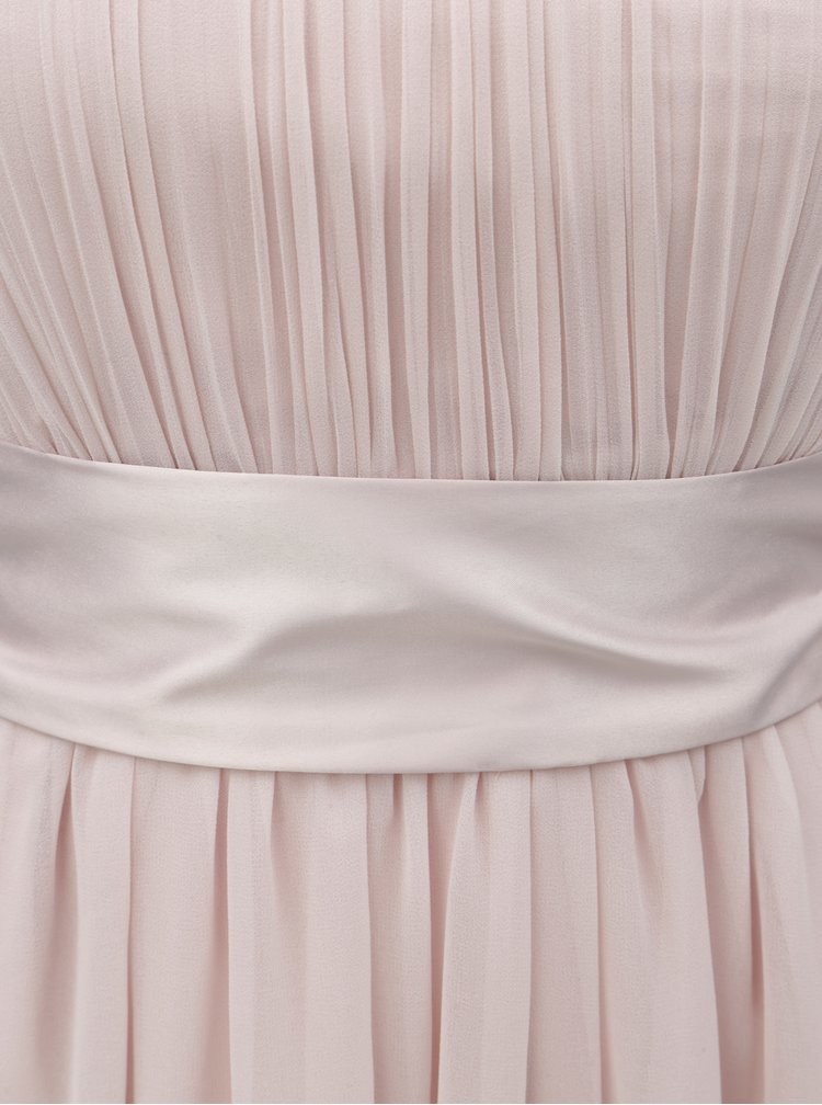 Rochie roz deschis cu panglica in talie Dorothy Perkins