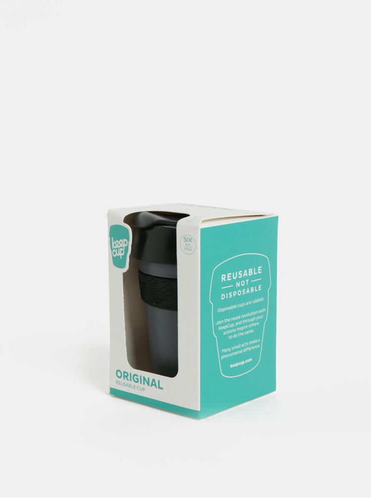 Cana de calatorie negru-gri KeepCup Original Six