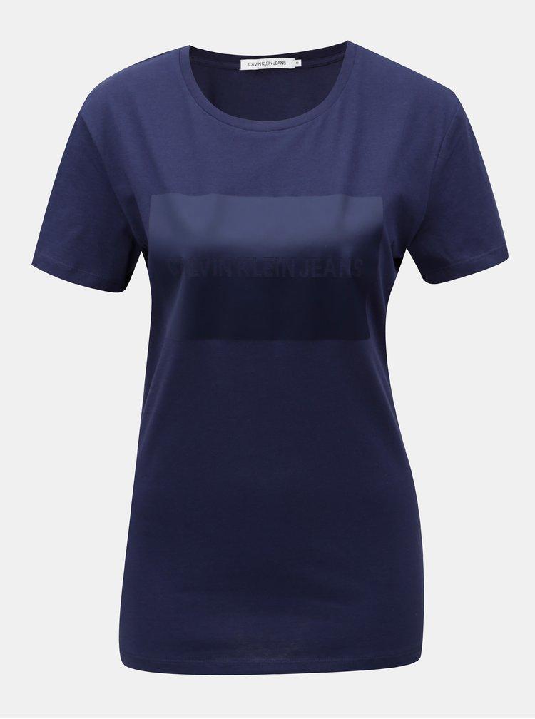Modré dámské tričko s potiskem Calvin Klein Jeans