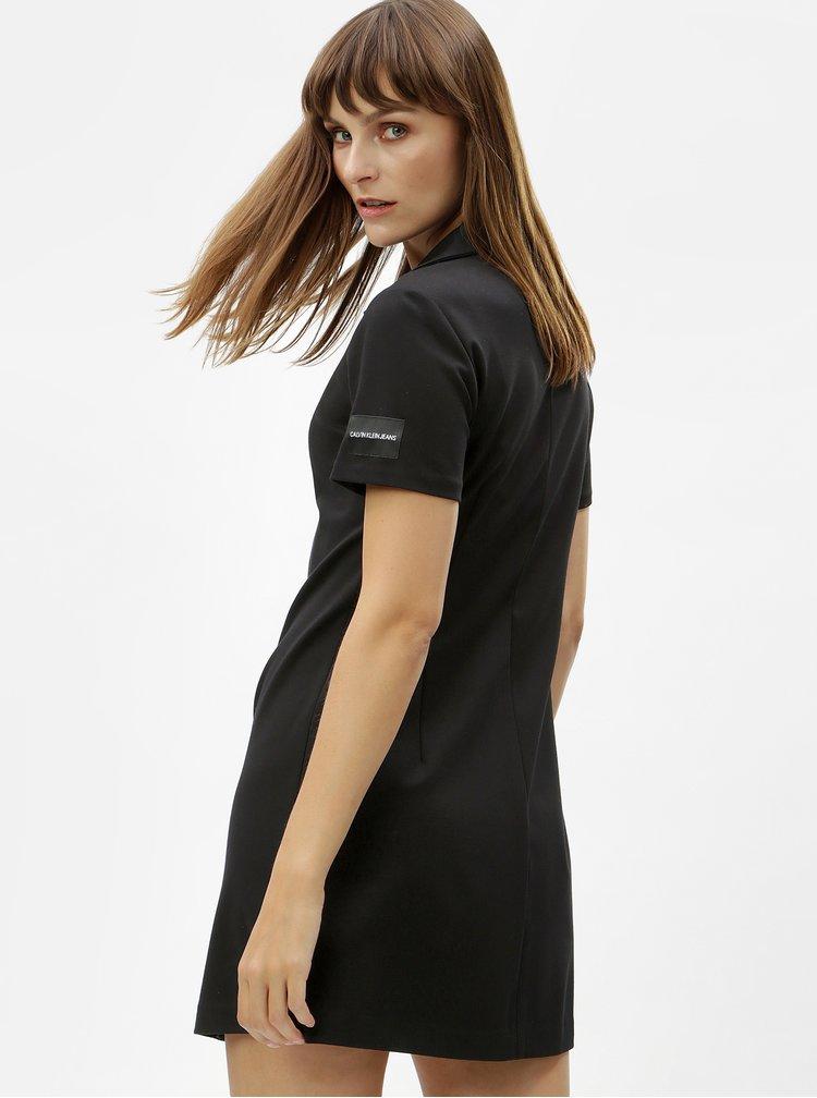 Černé minišaty s nášivkou Calvin Klein Jeans