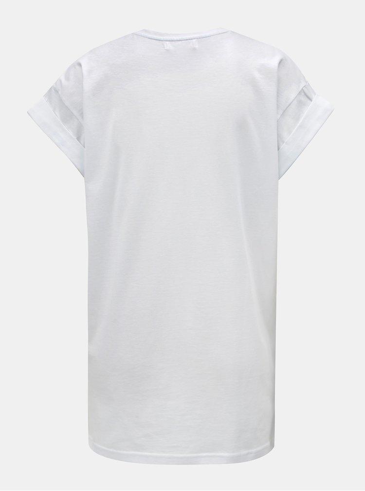 Bílé volné tričko s potiskem Moss Copenhagen Alva