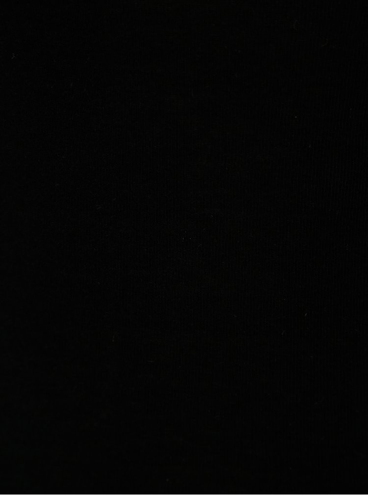 Černé tričko s dlouhým rukávem Moss Copenhagen
