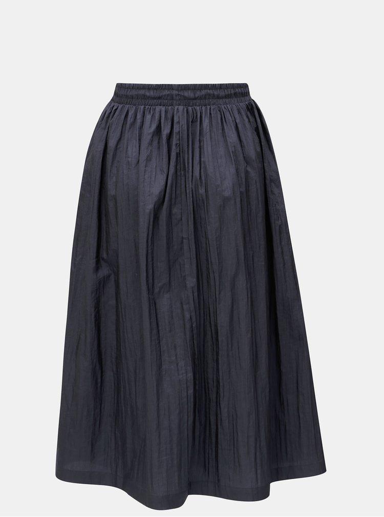 Tmavě modrá midi sukně Moss Copenhagen Active