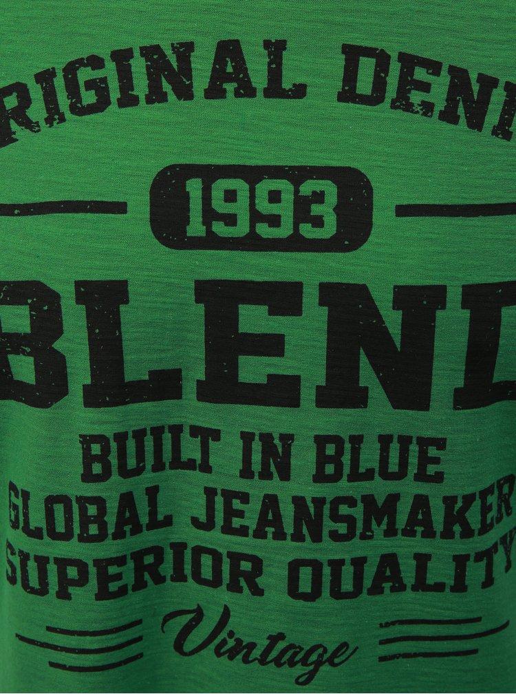 Zelené regular žíhané tričko Blend