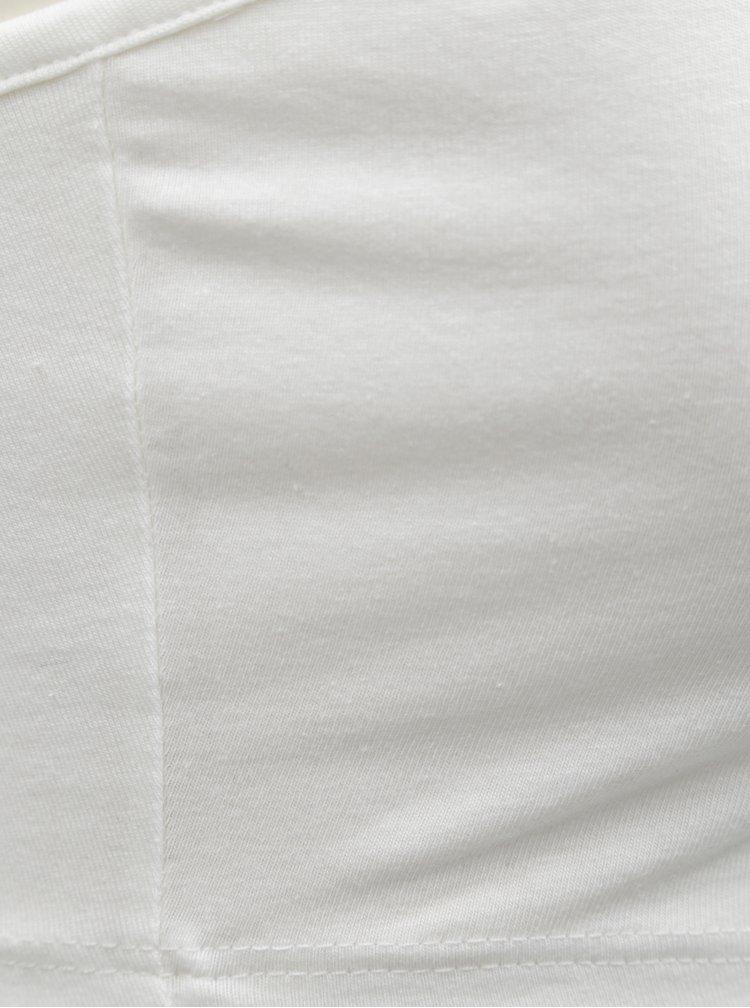 Bílý crop top na ramínka Miss Selfridge