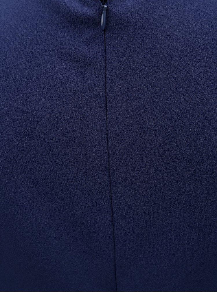 Tmavě modré pouzdrové šaty s krátkým rukávem ZOOT