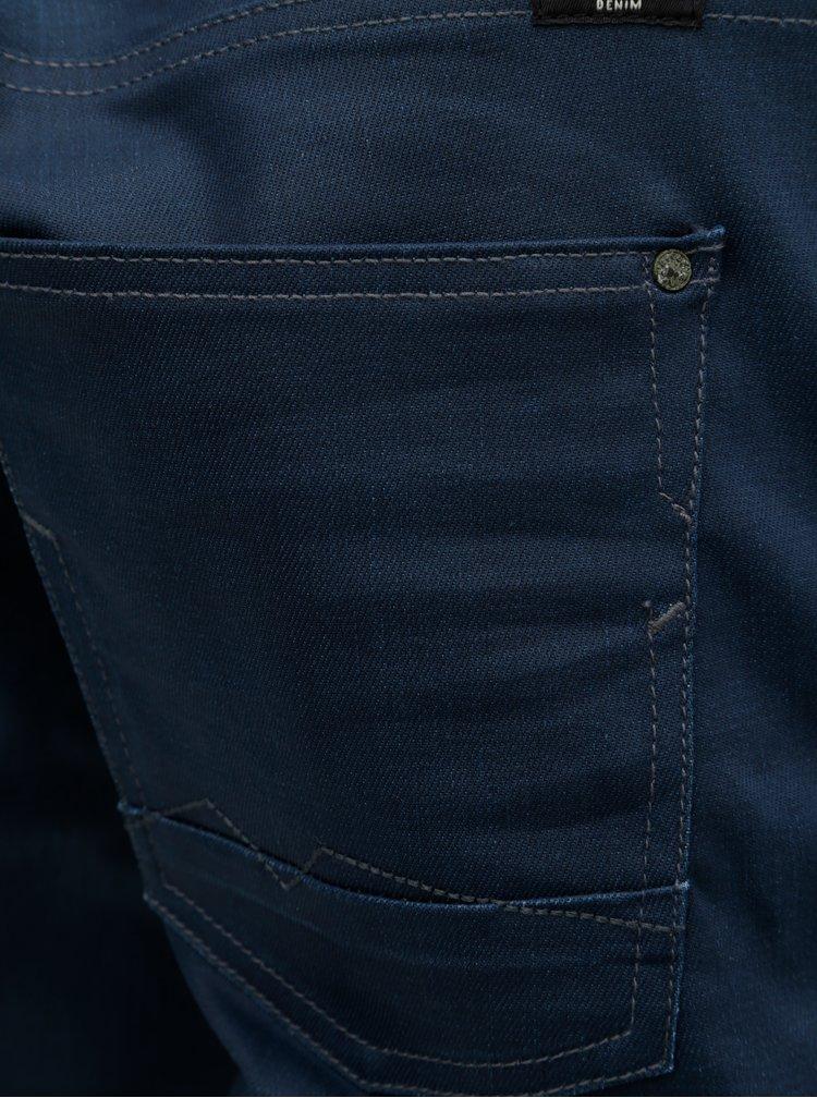 Blugi albastru inchis slim fit din denim Blend