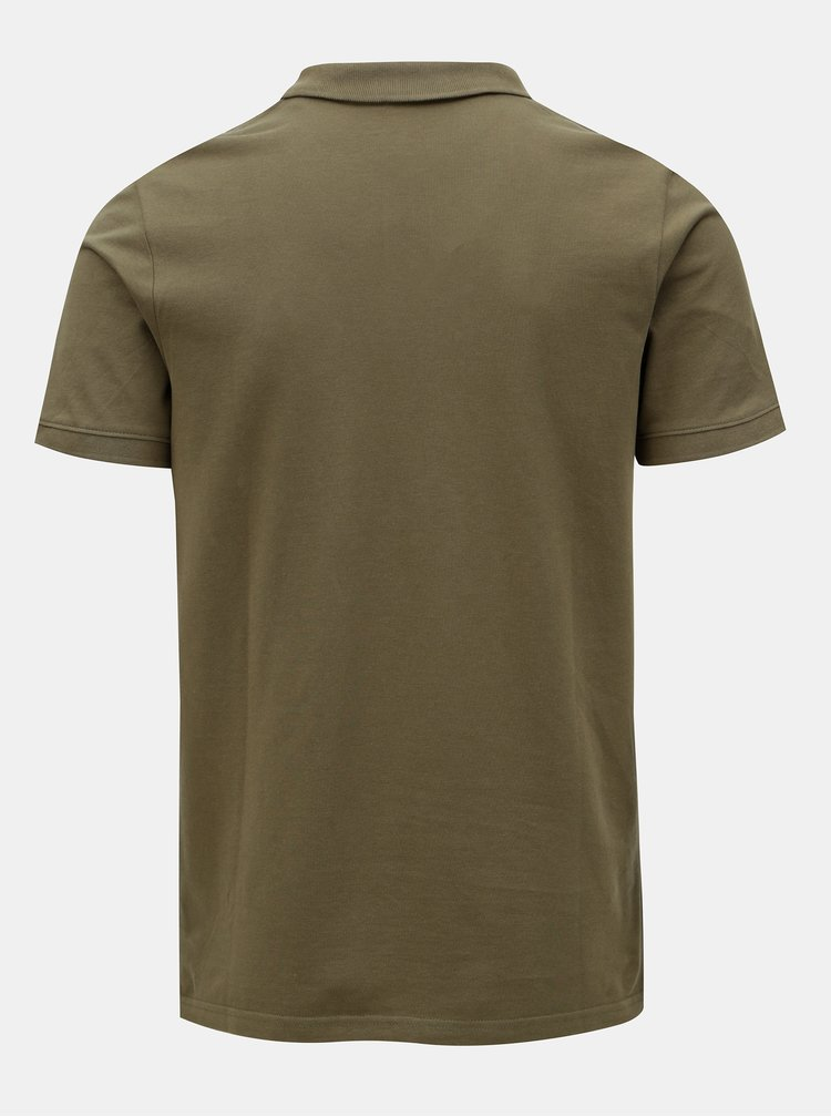 Khaki polo tričko Jack & Jones