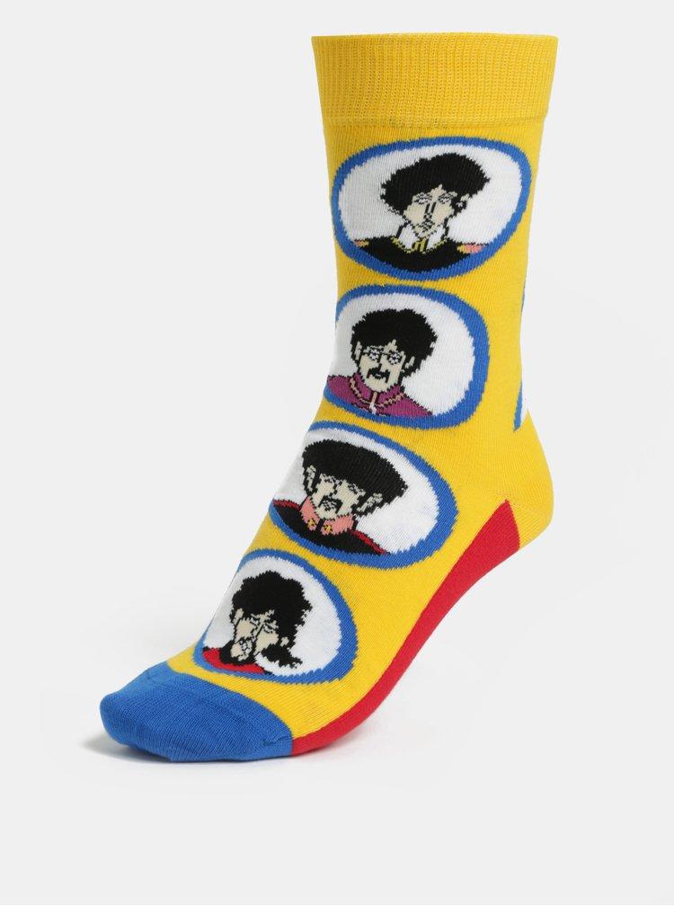 Červeno-žluté unisex ponožky Happy Socks Beatles Submarine Sock