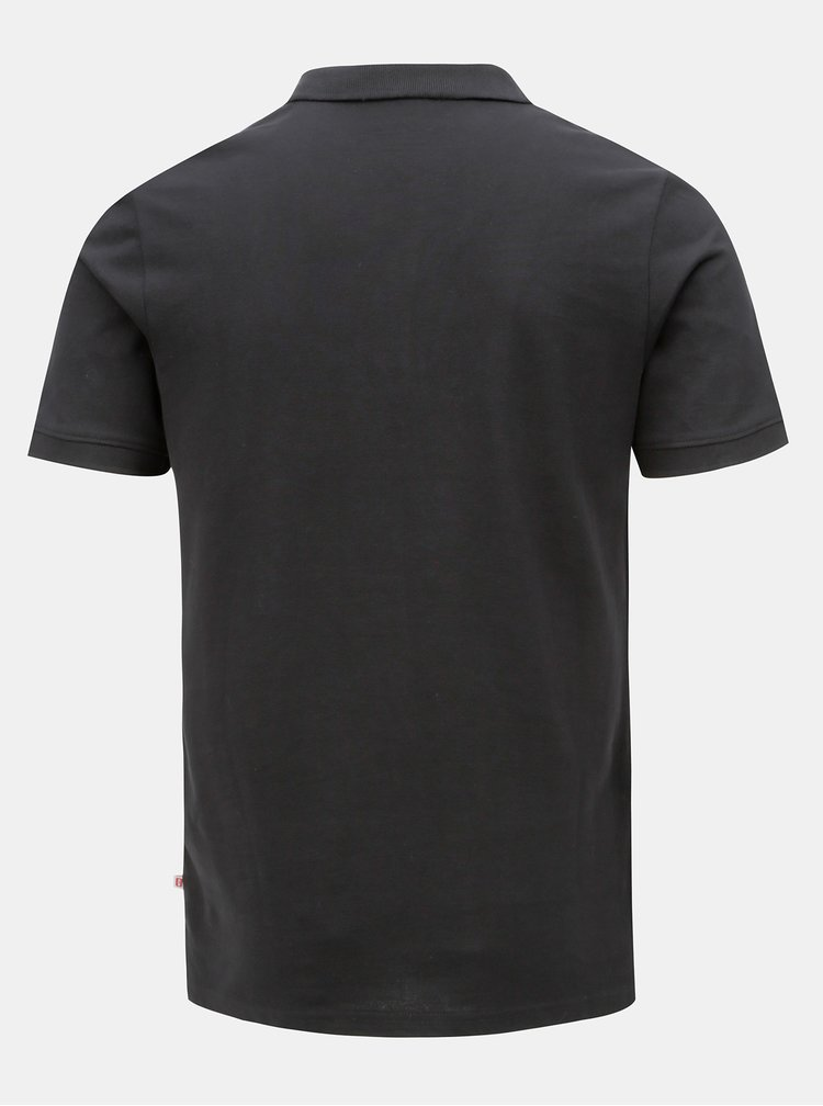 Tricou polo negru Jack & Jones