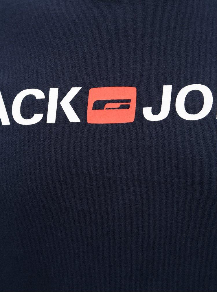Modré tričko s potiskem & Jones