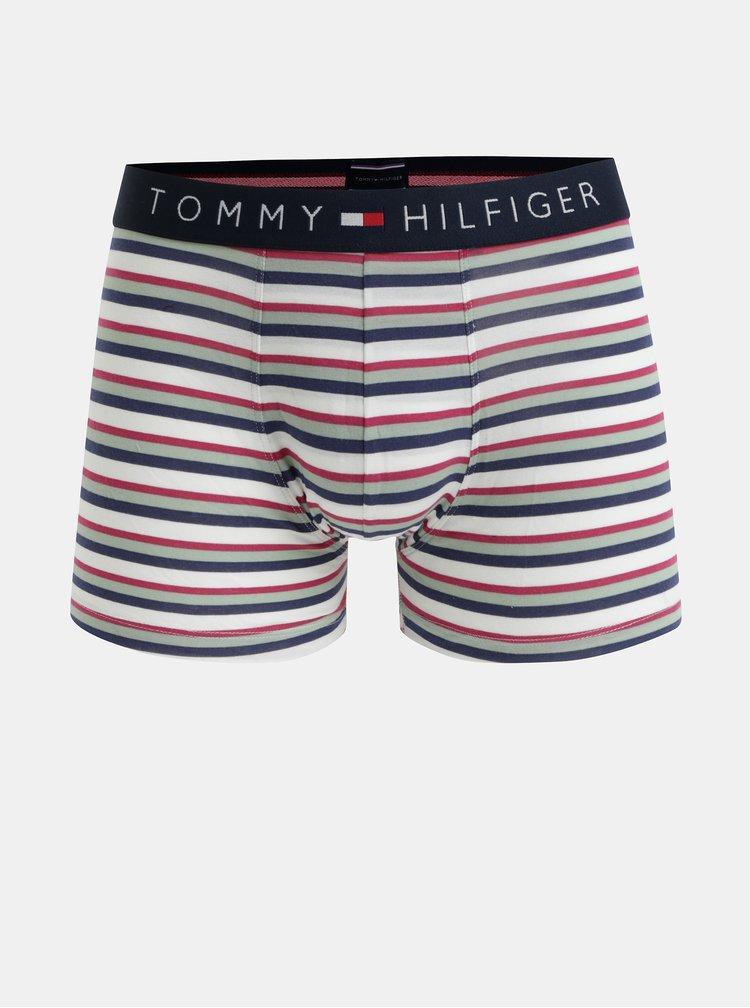 Sada tří boxerek ve světle zelené, vínové a krémové barvě Tommy Hilfiger