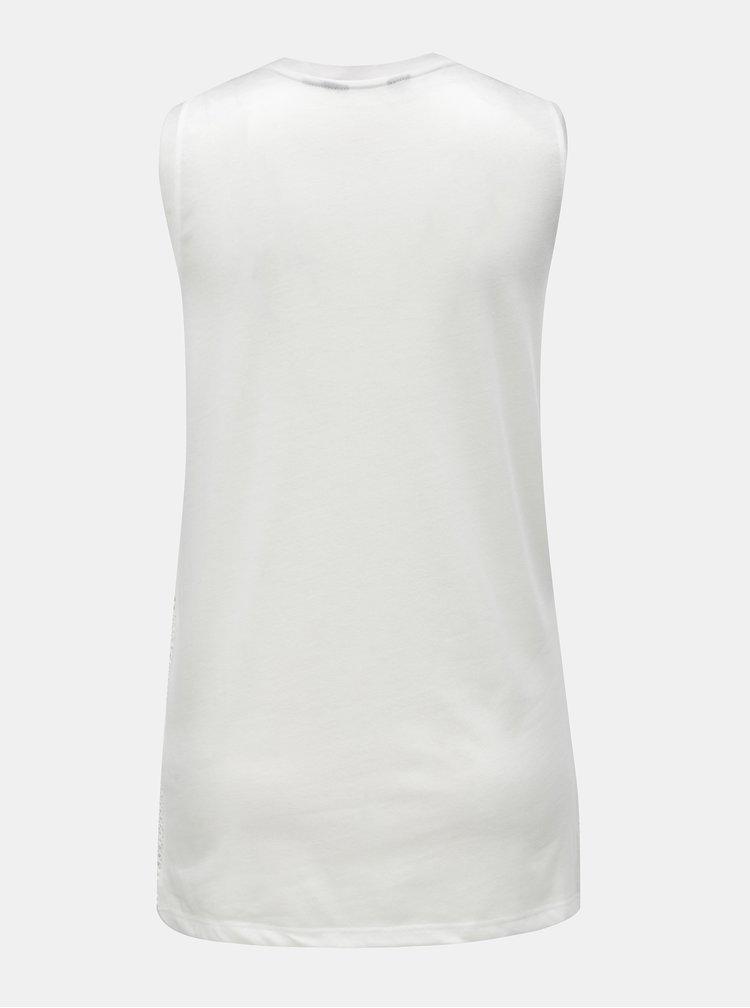 Biely top s čipkovanými detailmi Dorothy Perkins