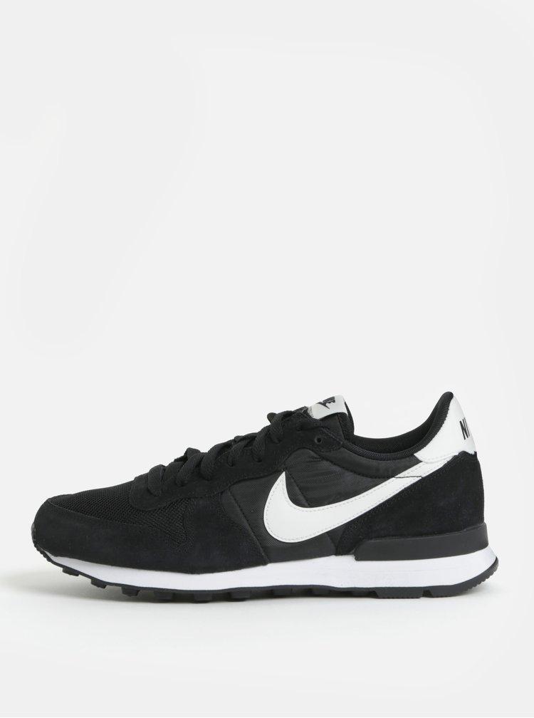 Černé pánské tenisky se semišovými detaily Nike Internationalist
