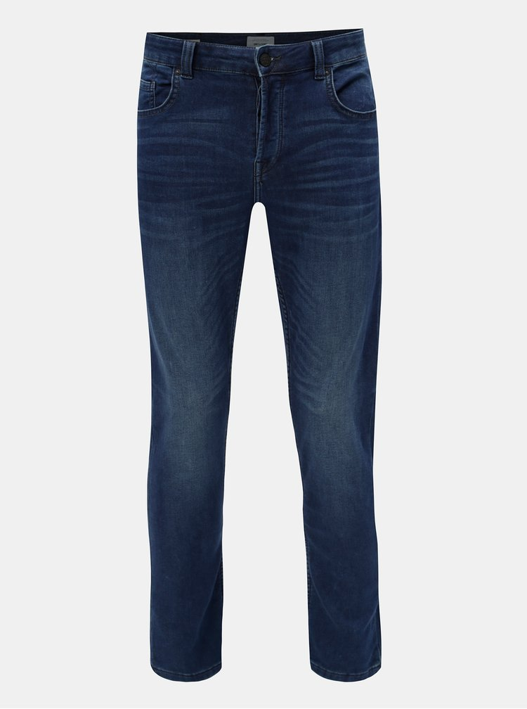 Blugi albastru inchis slim fit din denim ONLY & SONS