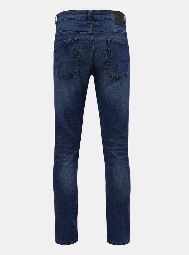 Tmavě modré slim fit džíny ONLY & SONS