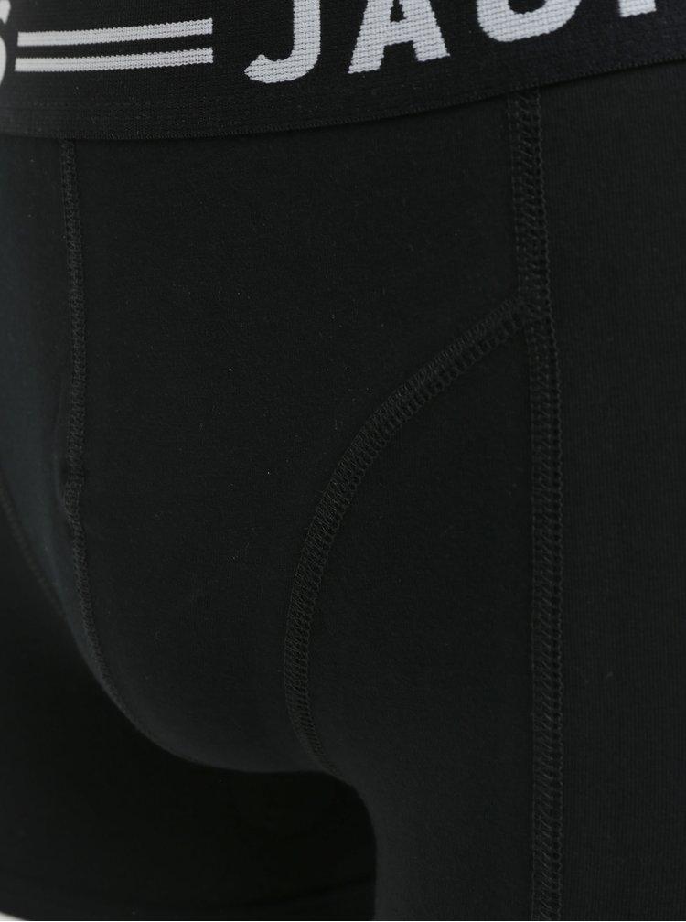 Sada tří boxerek v černé, šedé a modré barvě Jack & Jones