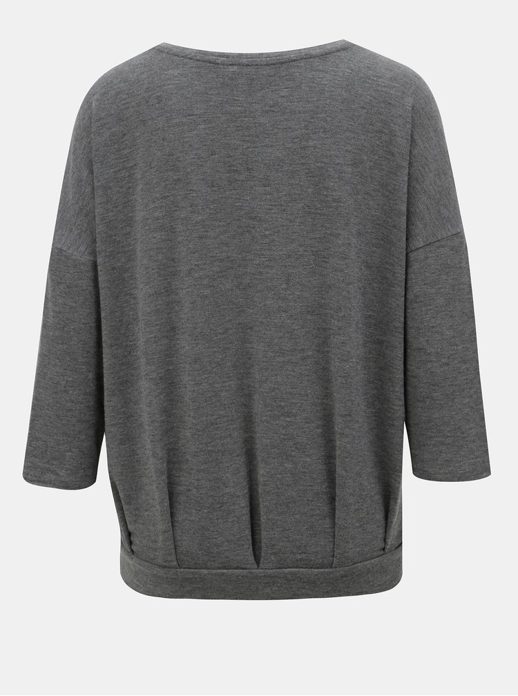 Šedé volné žíhané tričko ONLY Mida